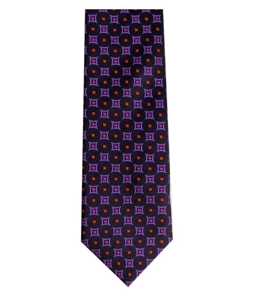 Monte Rosso Geomatrical Purple Necktie