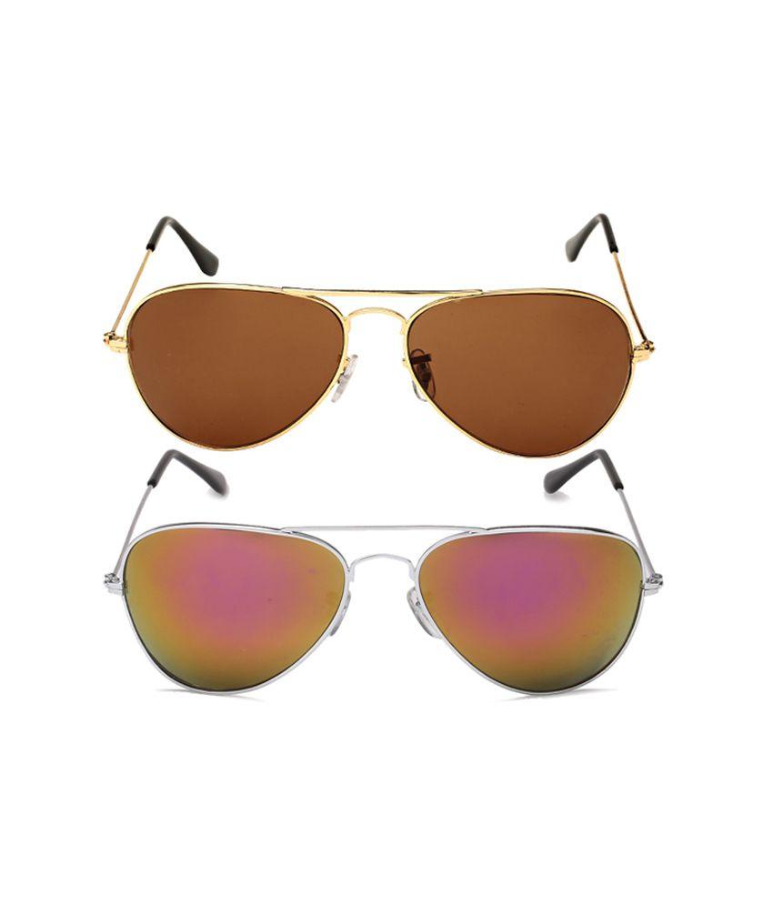Elysin Combo Of Aviator Sunglasses