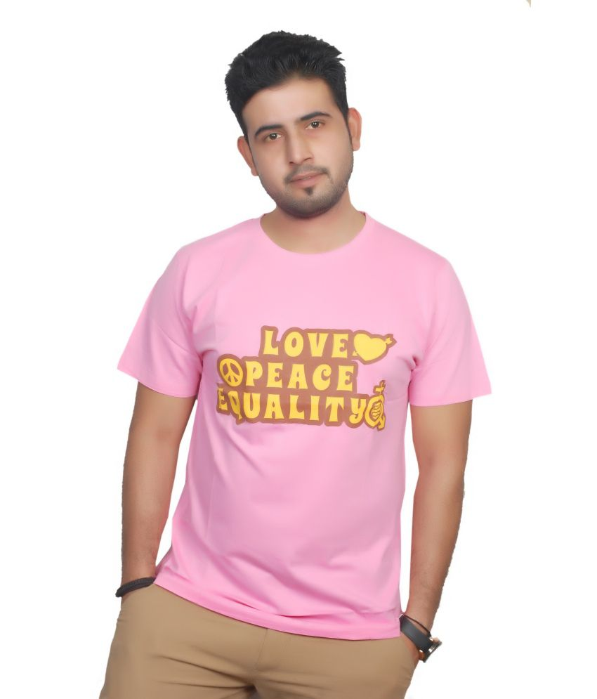 Equality Pink Funky Round Neck T Shirts