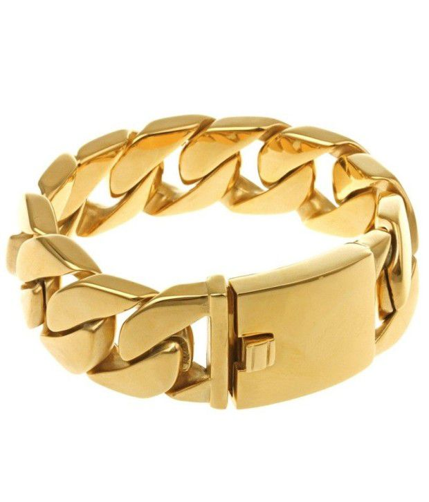 light in weight rose matte jl gold finish platinum bracelet and ptb products for men golden