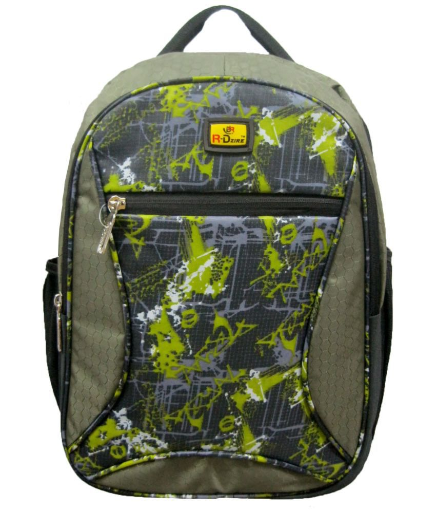 R-dzire Green Rangoli Backpack