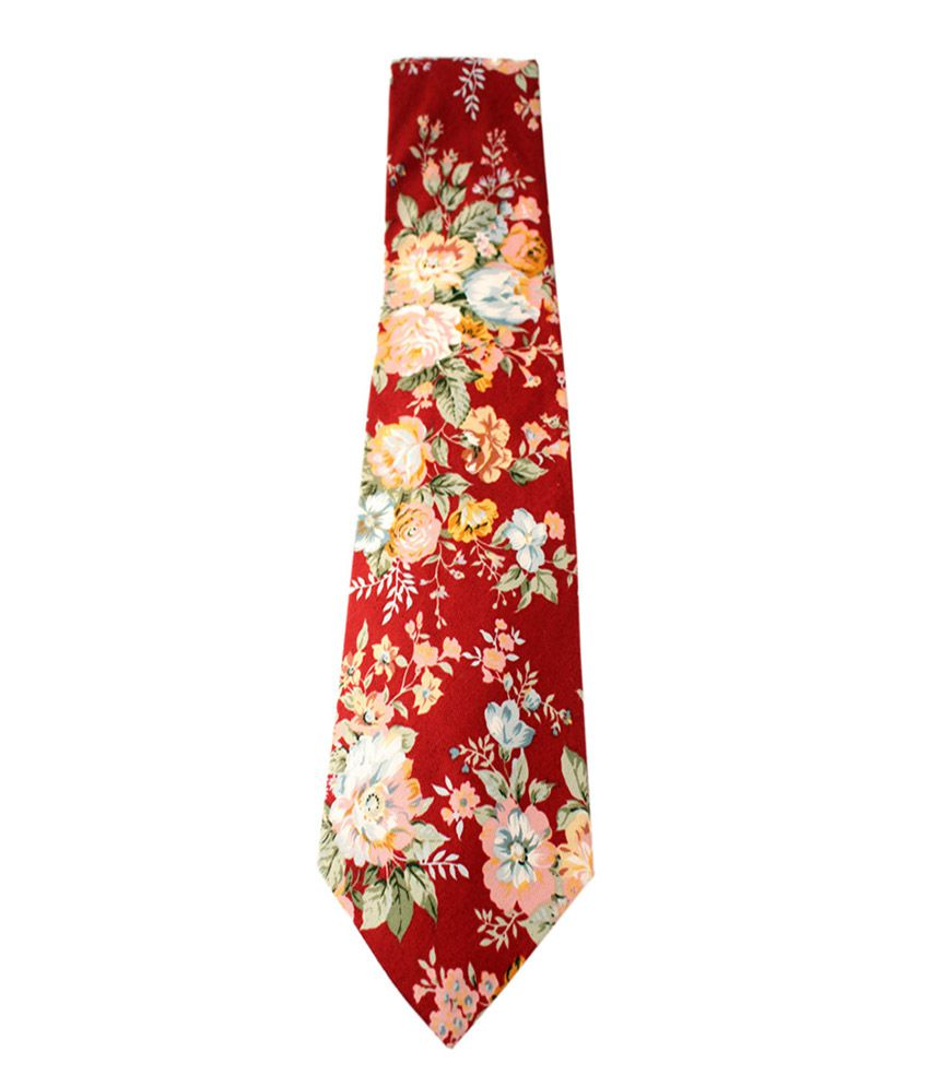 Roccia Stylish Floral Print Tie
