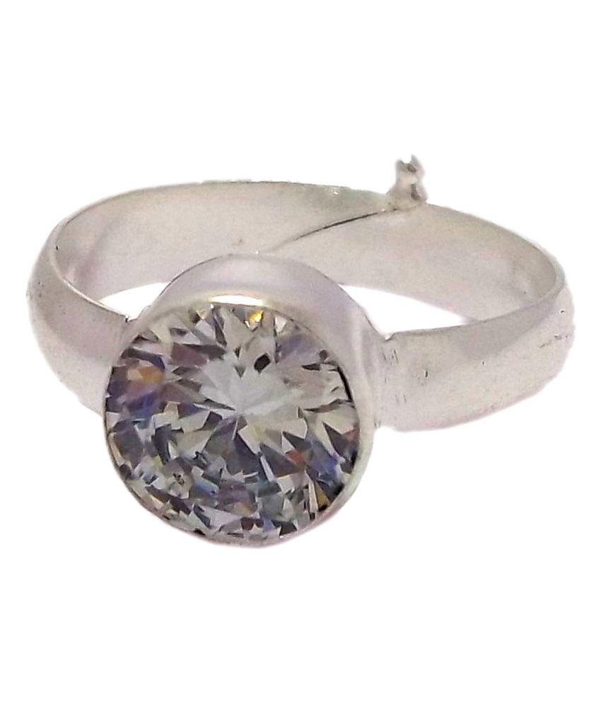 Rs Jewellers Single Diamond 5 Dhatu Zircon Ring