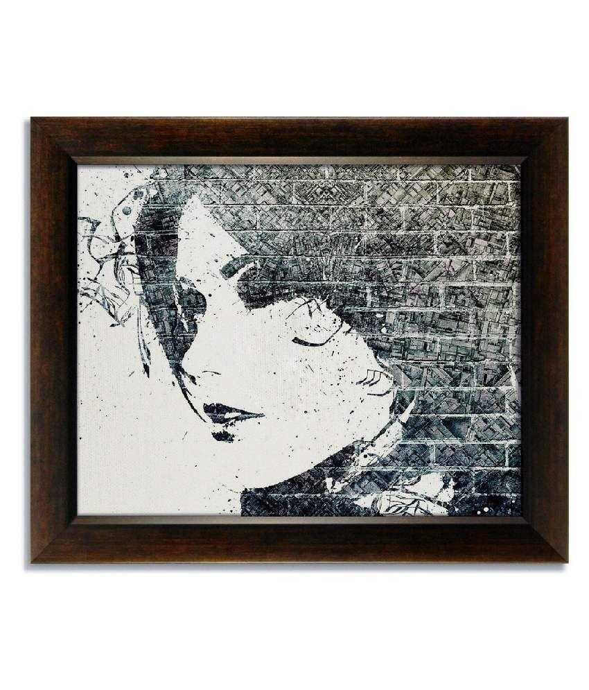 Stybuzz Brick Pattern Face Frameless Canvas Painting