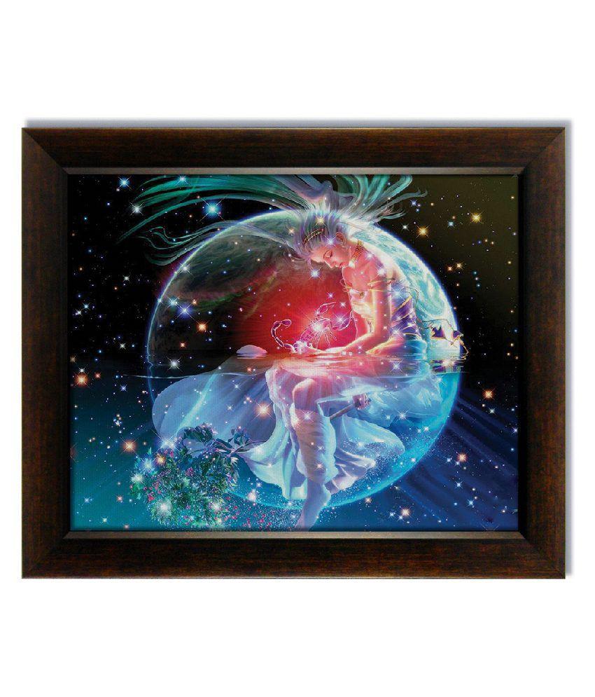 Stybuzz Scorpio Horoscope Frameless Canvas Painting