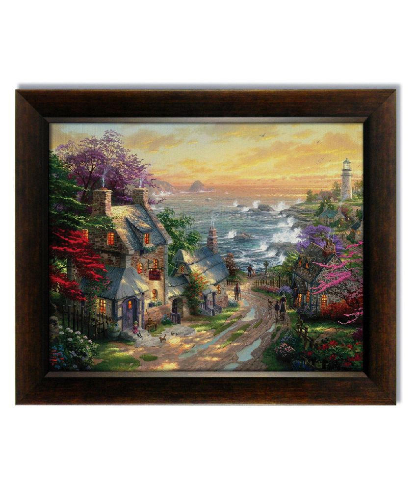 Stybuzz Sea View Frameless Canvas Painting