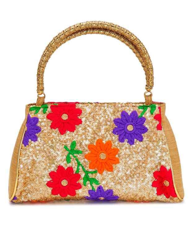 Stylocus Gold Color Women's Satchel Bag
