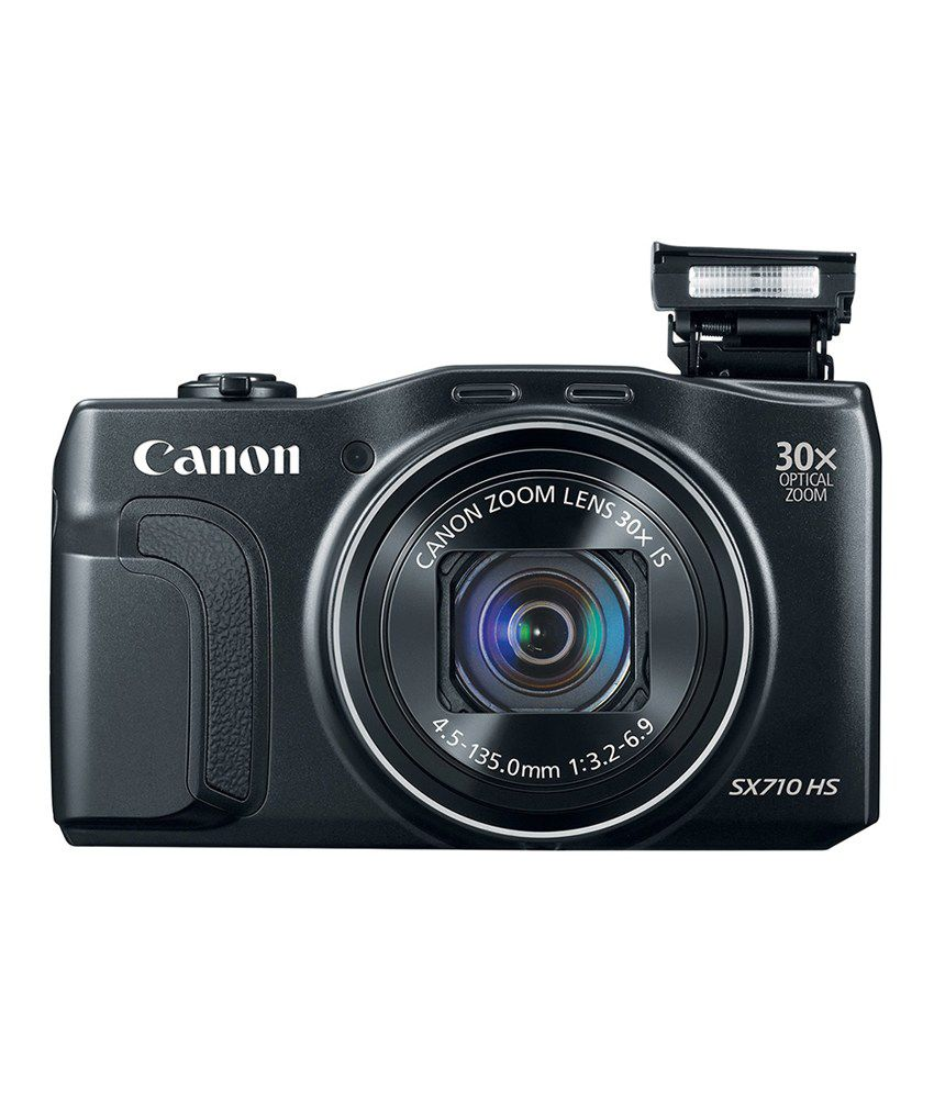 canon powershot sx710 hs point & shoot camera with carry case & card