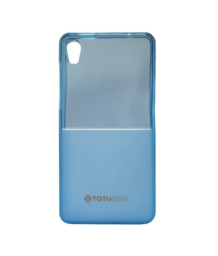 Jo Jo Totu Half Design Soft Silicon Back Cover For Micromax Canvas Fire A104 Light Blue