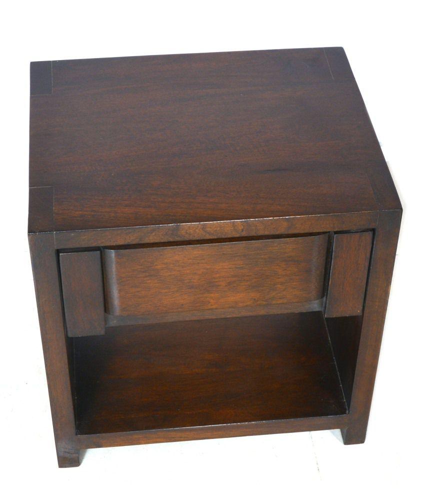 locville doublo side table wenge buy online at best price. Black Bedroom Furniture Sets. Home Design Ideas
