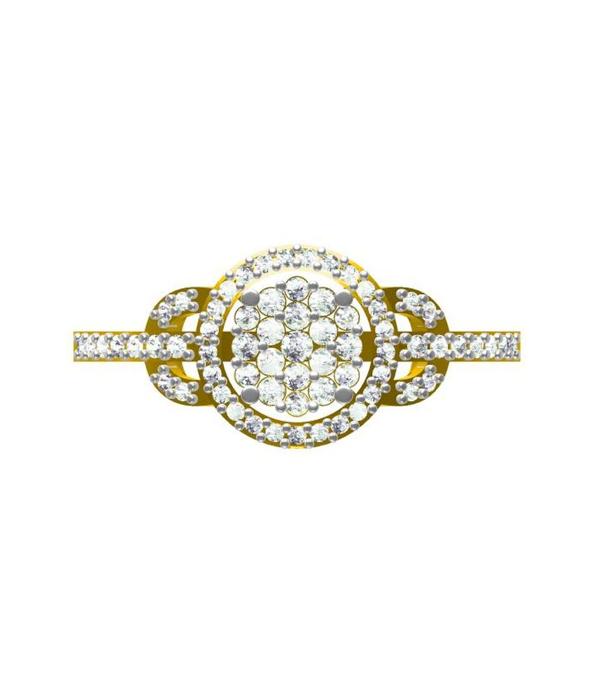 Sakshi Jewels 18kt Hallmarked Gold Ring With Cute Cut Diamond