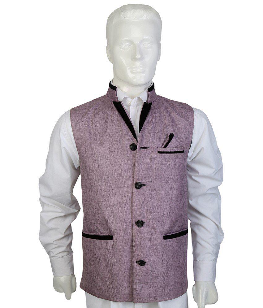 Selfieseven Stylish Purple Waistcoat
