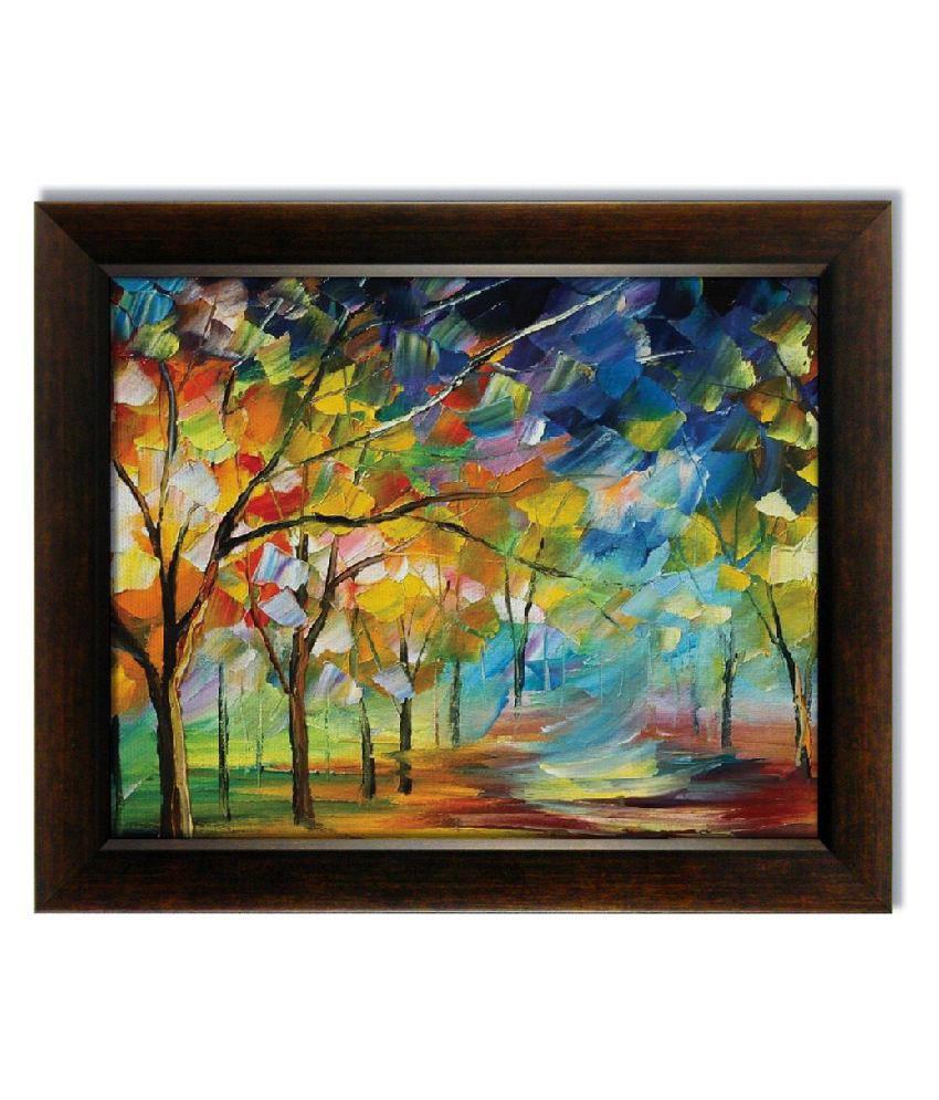 Stybuzz Beautiful Frameless Canvas Painting