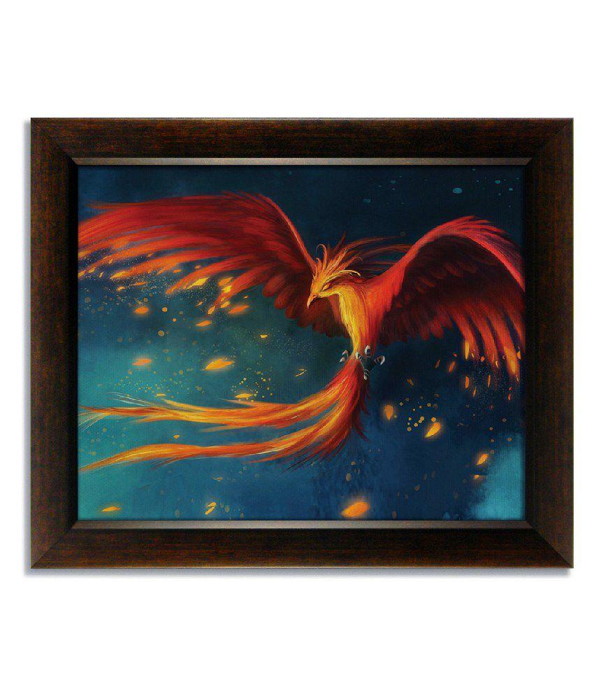 Stybuzz Phoenix Bird Frameless Canvas Painting