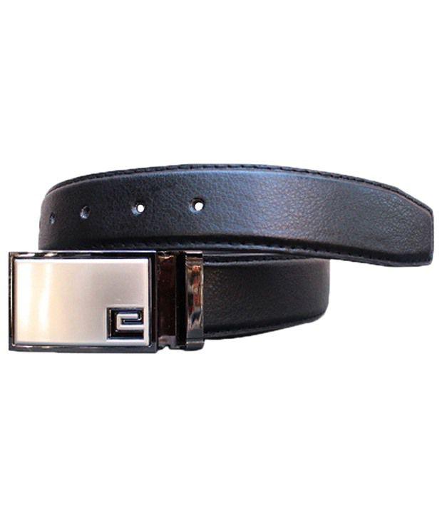 Winsome Deal Ideal Black Solid Belt For Men