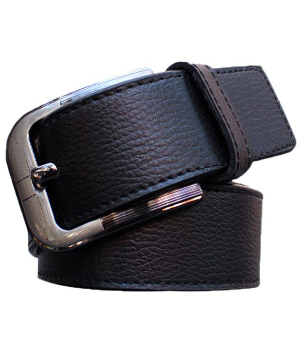 Winsome Deal Versatile Black Solid Belt For Men