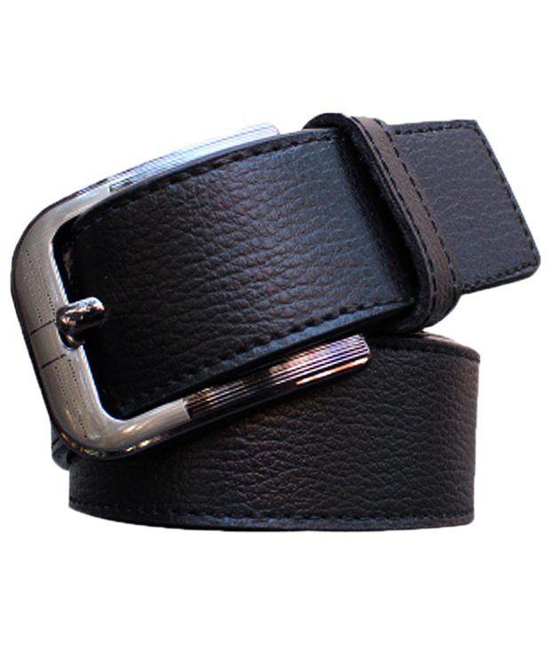Winsome Deal Versatile Black Solid Belt For Men