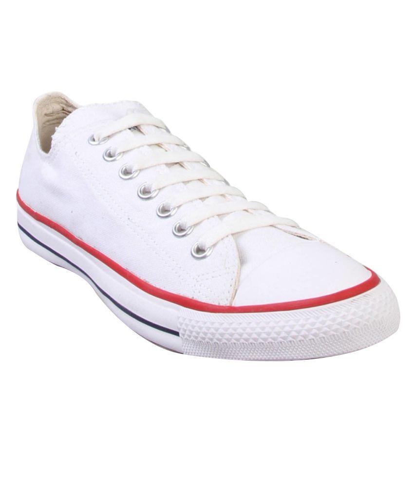 converse white masculine canvas shoes