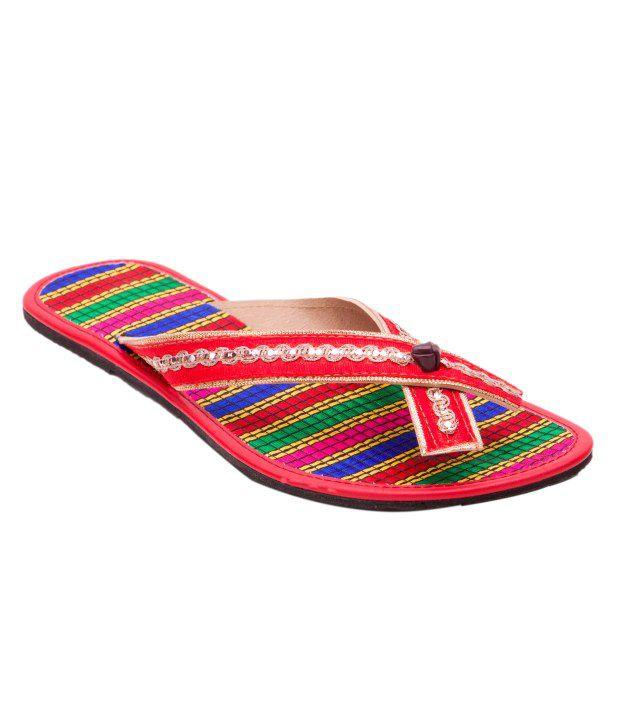 Myra Patent Women's Pair Of Embroidered Flats