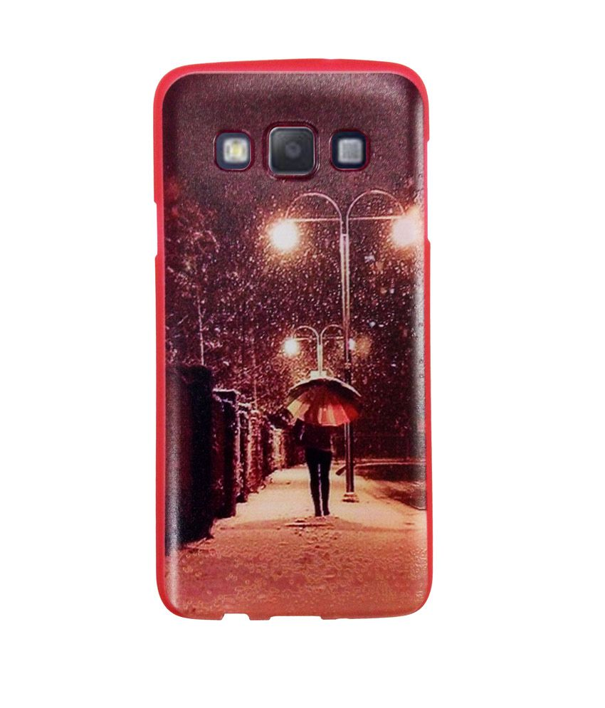 Techwich Designer Textured Silicone Back Cover For Samsung Galaxy A3 - Couple