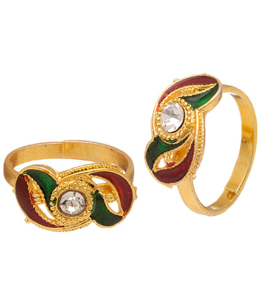 Voylla Incredible Gold Plated Toe Rings