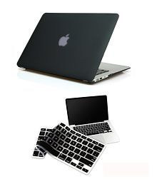 Pindia Black Matte Finish Hard Case Cover For Apple MacBook Air 13 13.3 MB003HN/A & MB003LL/A With Keyboard Protector