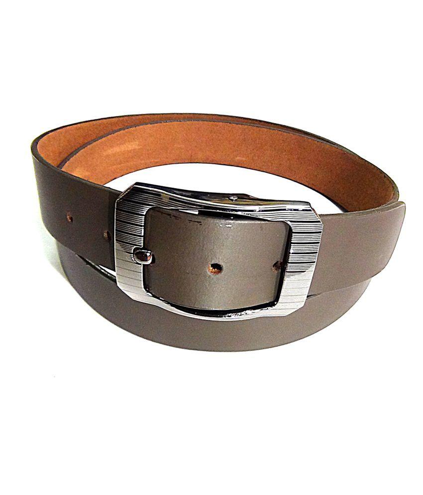 Manshkhino Brown Italina Leather Formal Belt