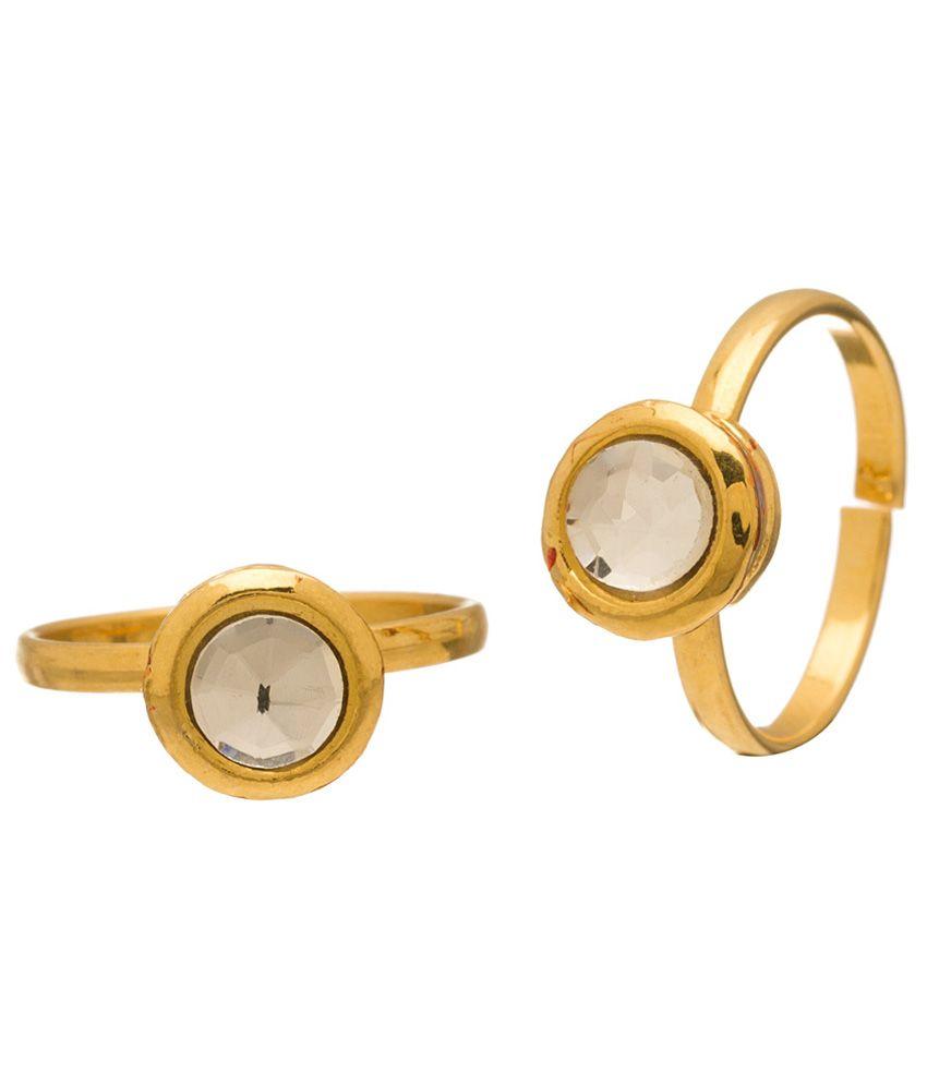 Voylla Joyful Gold Plated Toe Rings
