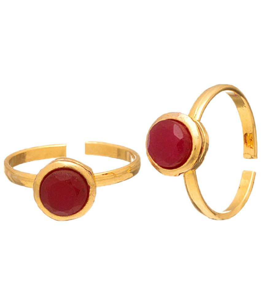 Voylla Propitious Gold Plated Toe Rings