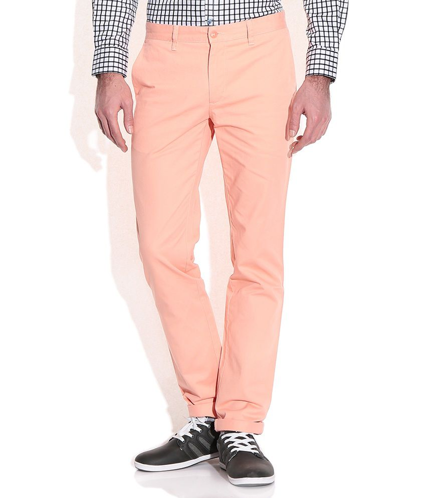 Wills Lifestyle Tangerine Slim Fit Casual Trousers