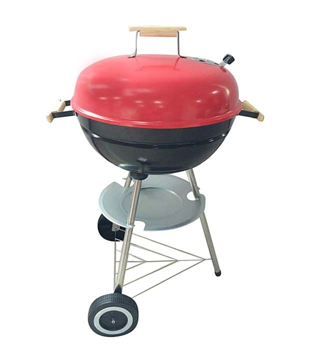 cb068d0193f Barbecue Pit web 47 cm (18.5) Charcoal BBQ (Red   Black)  Buy Online ...