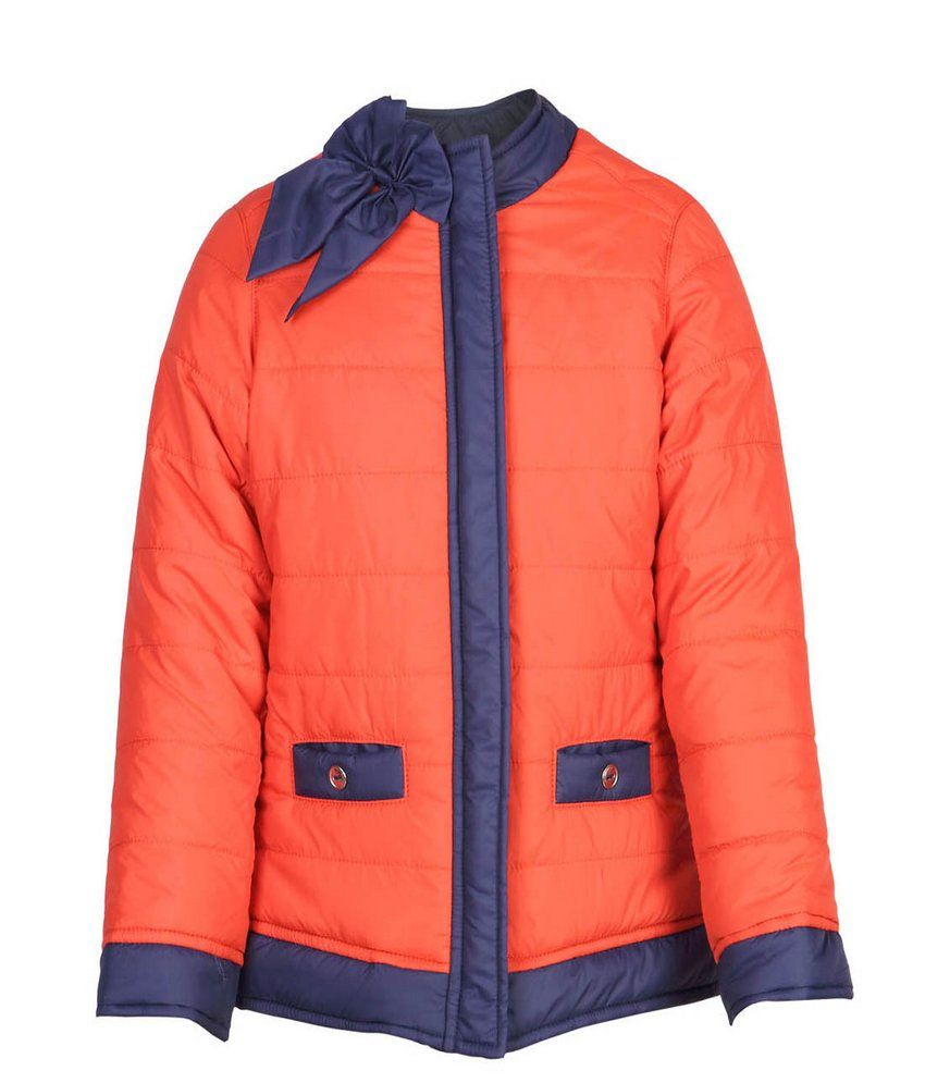 Ello Full Sleeve Orange Color Without Hoods Padded Jackets For Kids