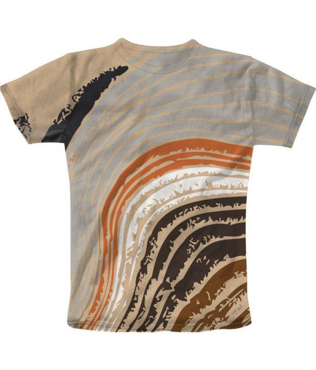 Freecultur Express Multicoloured Cotton Blend T-shirt