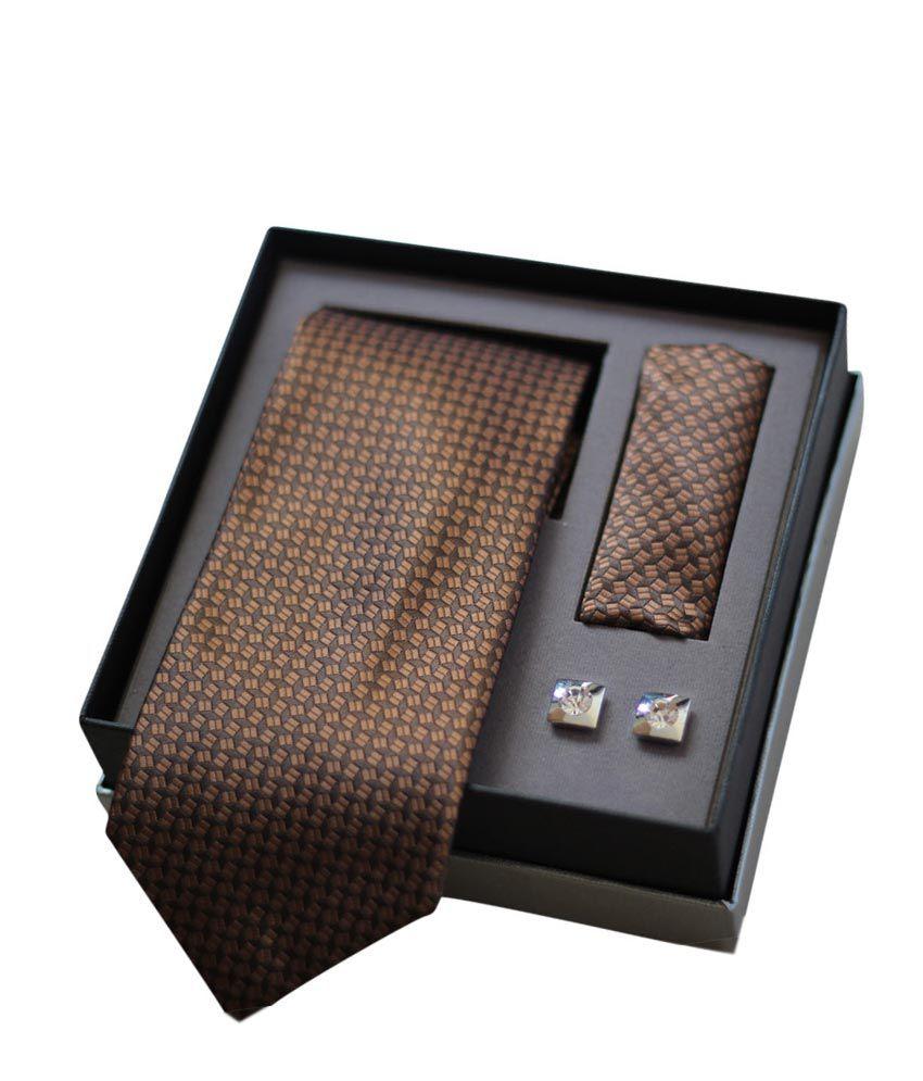 Pharaoh Brown Formal Tie Combo Set
