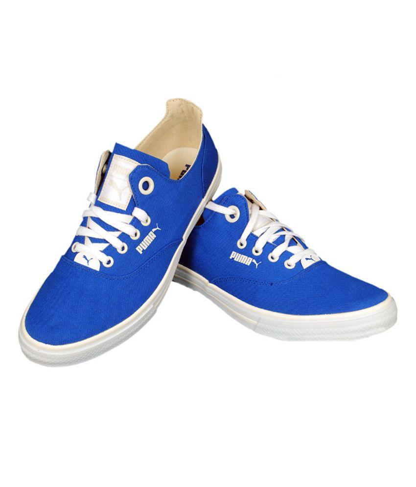 Puma Blue Canvas Shoes - Buy Puma Blue Canvas Shoes Online at Best ... cbb31e9ba