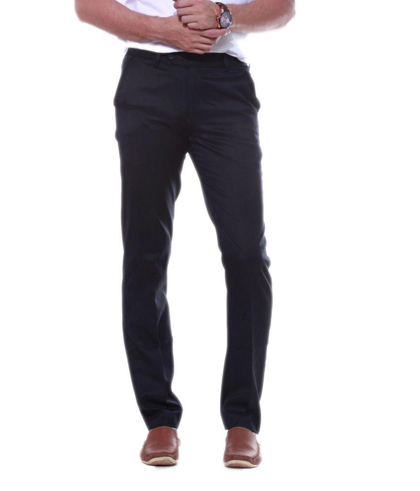 Sangam Apparels Dignify Slim Fit Men's Navy Trouser