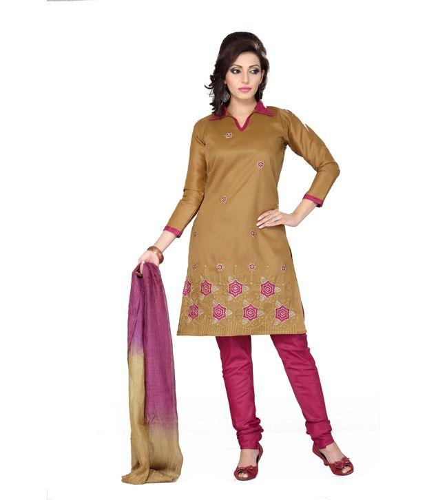 Aisha Cotton Multicolor Drees Material With Dupatta