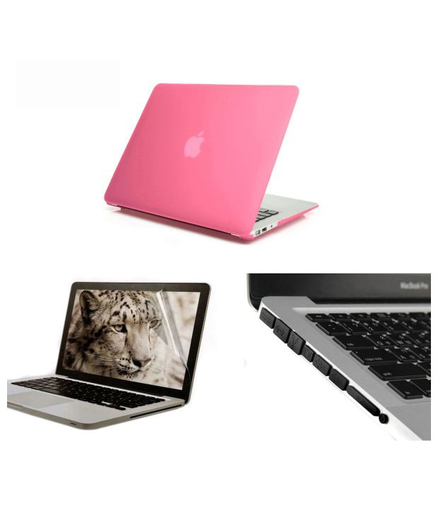 PINDIA Pink Hard Case Cover For Apple Macbook Pro 1313 3