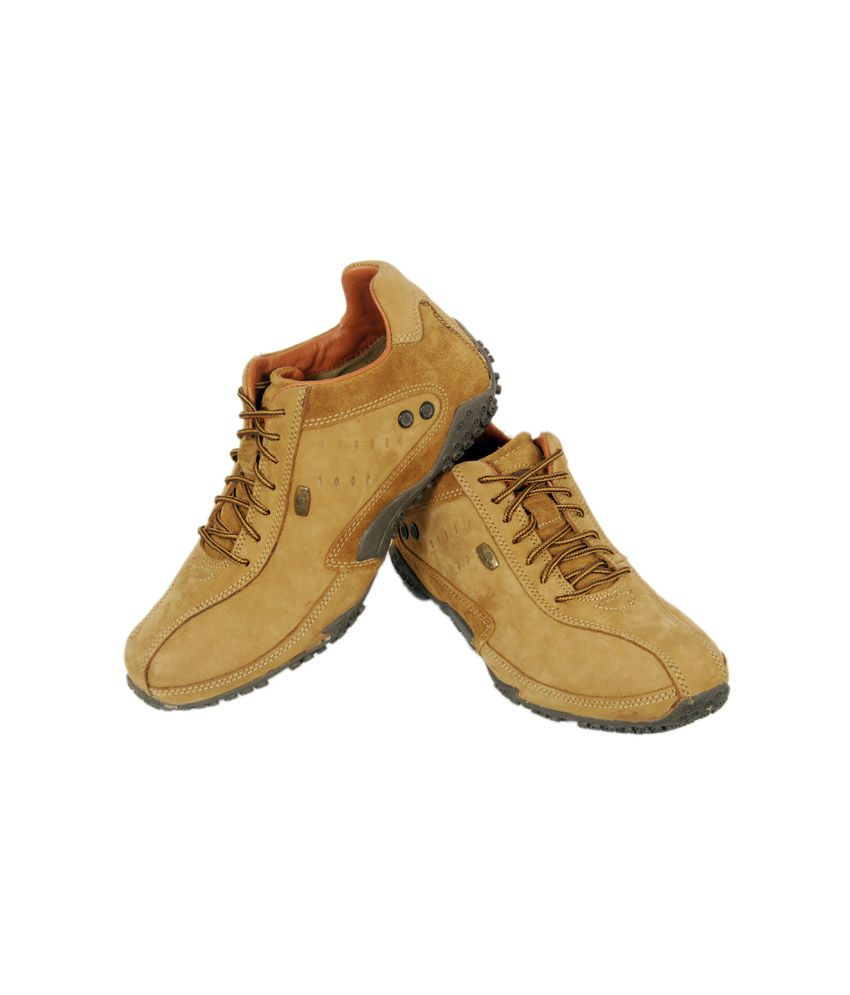 Woodland Camel Nubuck Leather Casual Shoes Art Gc572108cam