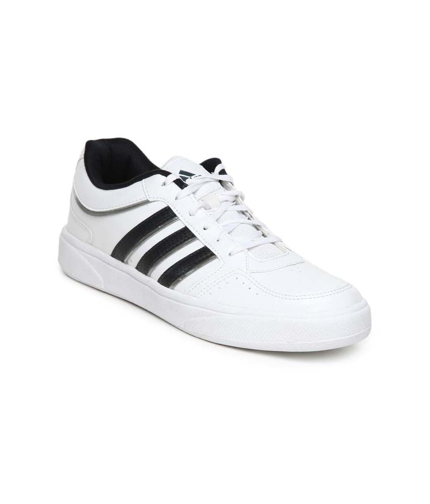 Adidas White Synthetic Leather Men's