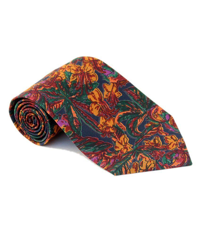 Roccia Multi-color Stylish Floral Print Tie