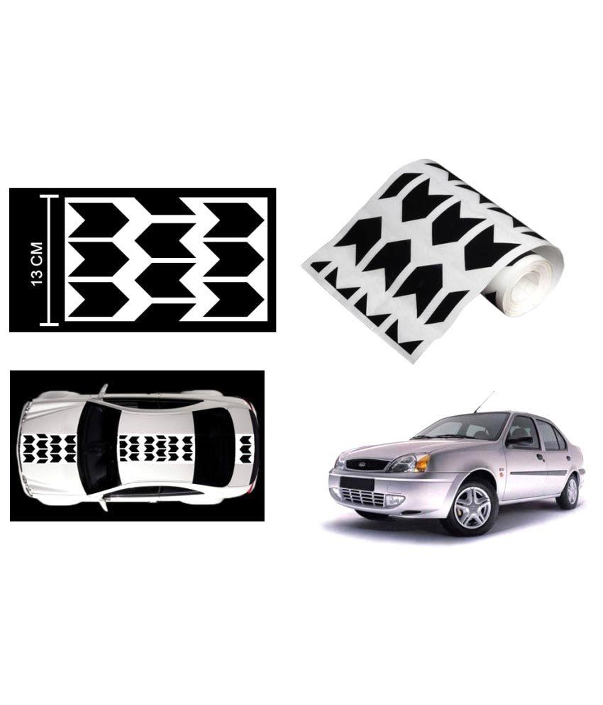 Speedwav Car Racing Stripe Graphic Sticker Black Arrow For Ford Ikon