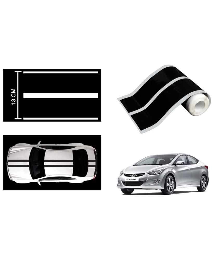 Speedwav car racing stripe graphic sticker black for hyundai elantra fluidic buy speedwav car racing stripe graphic sticker black for hyundai elantra
