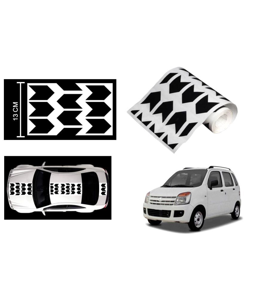 Speedwav car racing stripe graphic sticker black arrow for maruti wagon r buy speedwav car racing stripe graphic sticker black arrow for maruti wagon r