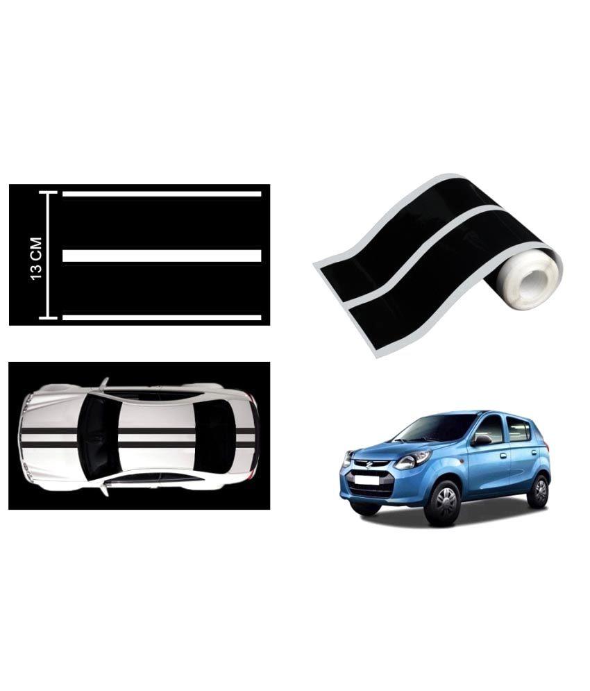 Speedwav car racing stripe graphic sticker black for maruti new alto 800 buy speedwav car racing stripe graphic sticker black for maruti new alto 800