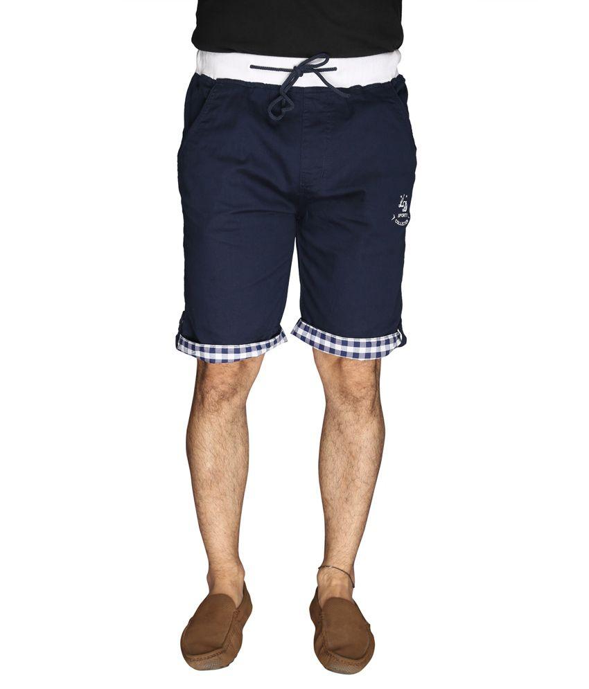 LD Active Navy Cotton Men's Shorts
