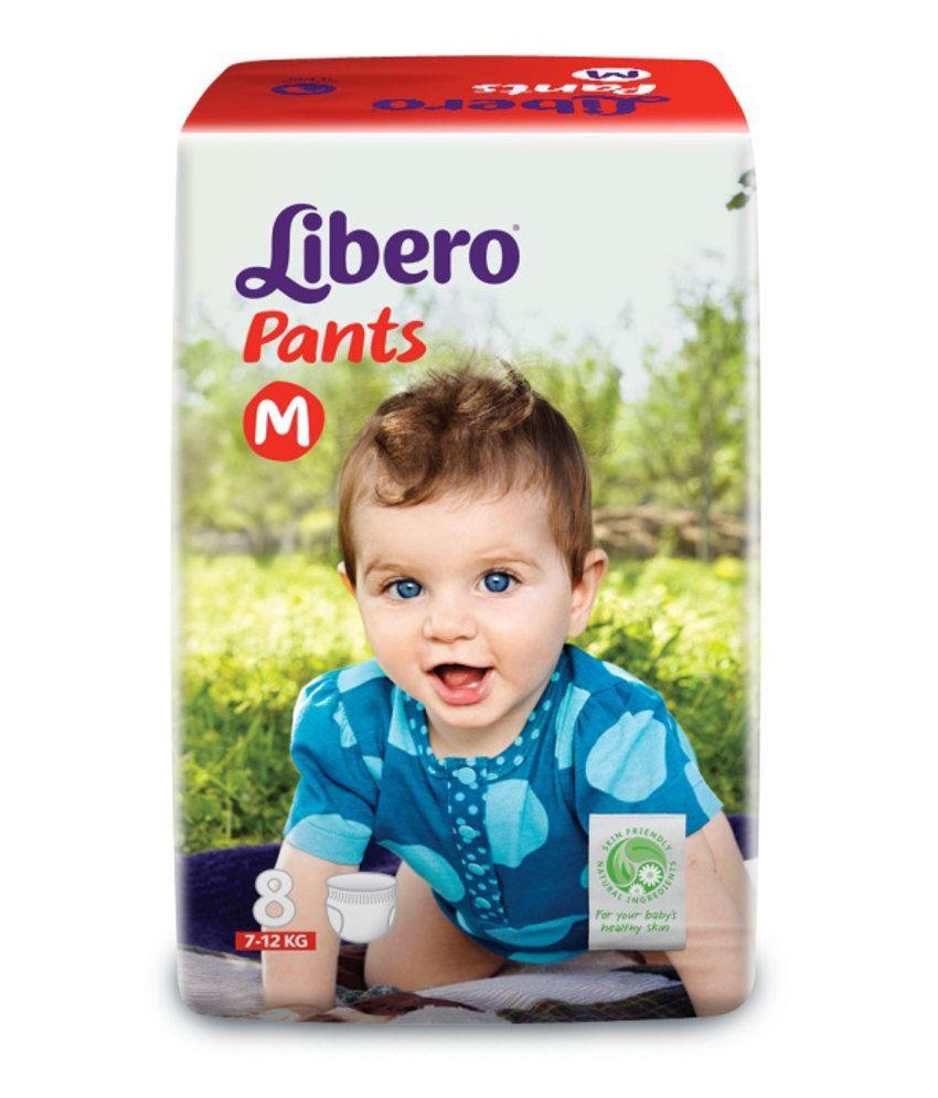 Libero Diapers Pants Medium Size - 8 Pcs