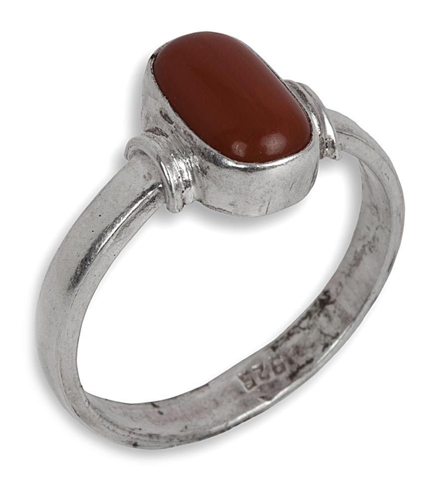 Silverwala 925 Silver Coral Ring