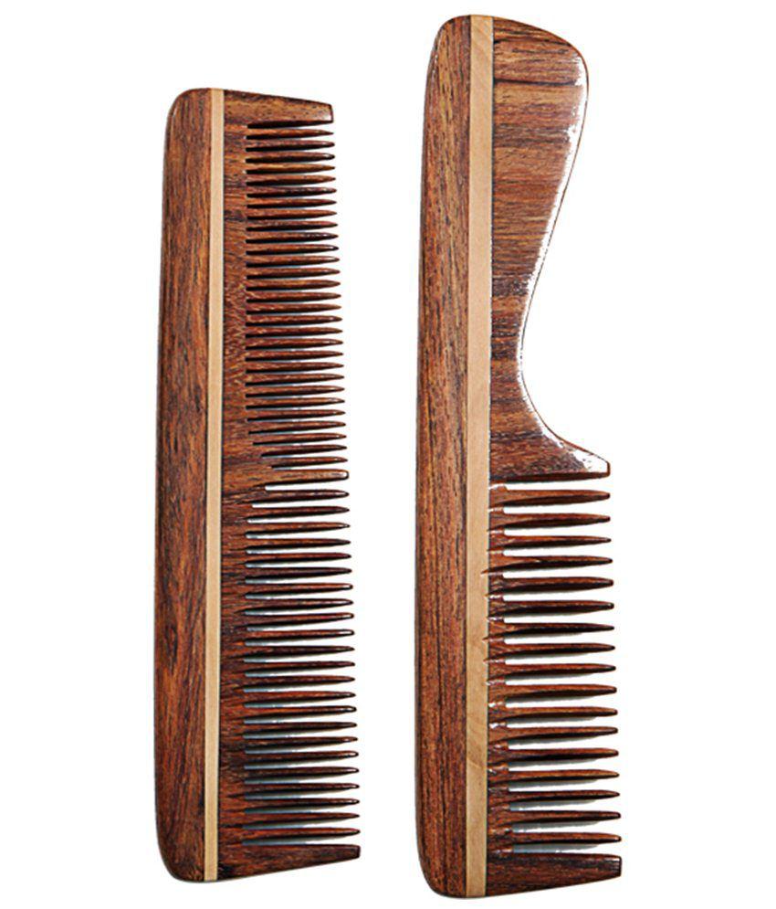Woodpicker Elegant Wooden Comb Set Of 2