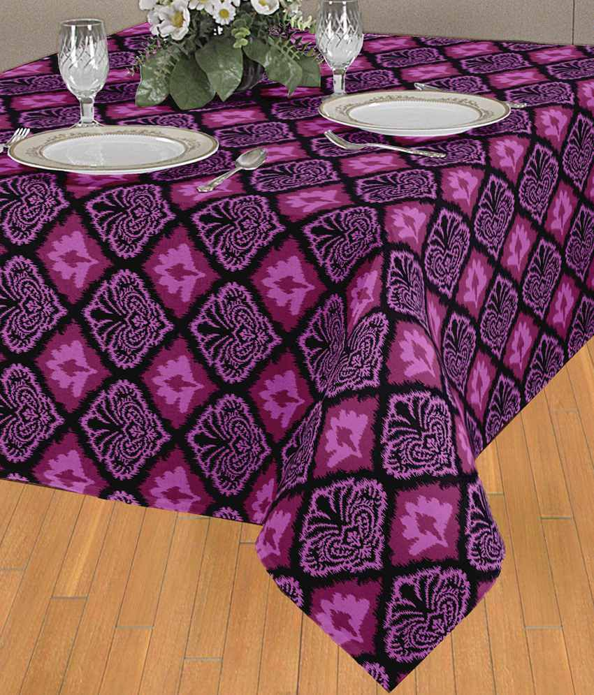 Elan stylish purple damask table cloth 8 seater buy for 10 seater table cloth